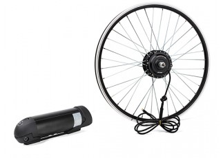 """E-Bike Conversion Kit for 26"""" Bikes (PAS Front Wheel Drive) (36V/8.8A)  (UK Plug)"""