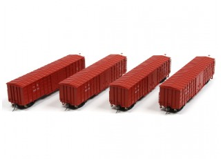 P64K Box Car (Ho Scale - 4 Pack) all 4 cars