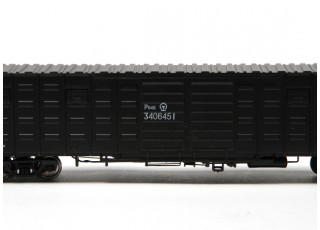 P64K Box Car (Ho Scale - 4 Pack) Black detail 4