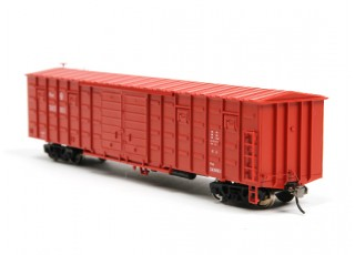 P64K Box Car (Ho Scale - 4 Pack) Brown Set 2 rear