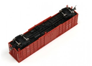 P64K Box Car (Ho Scale - 4 Pack) Brown Set 2 underneath