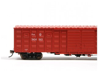P64K Box Car (Ho Scale - 4 Pack) Brown Set 2