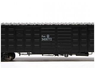 P64K Box Car (Ho Scale - 4 Pack) (Black Set 3) 4