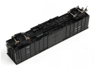 P64K Box Car (Ho Scale - 4 Pack) Black Set 2 wheels