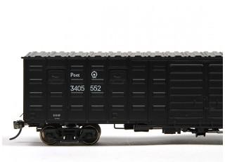 P64K Box Car (Ho Scale - 4 Pack) Black Set 2 / 3