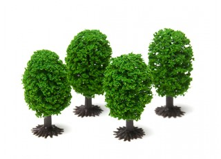 HobbyKing™ 50mm Scenic Model Trees with Base (4 pcs)