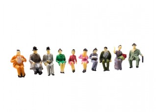 1/87th (HO scale) Assorted Sitting Figures (10pcs)