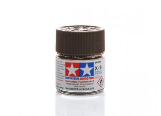 Tamiya X-9 Gloss Brown Mini Acrylic Paint (10ml)