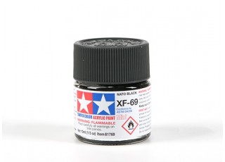 Tamiya XF-69 Flat Nato Black Acrylic Paint (10ml)