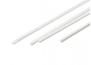 ABS Square Rod 1.0mm x 1.0mm x 500mm White (Qty 5)