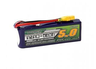 Turnigy nano-tech 5000mah 3S 45~90C Lipo Pack w/XT-90