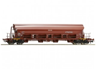Roco HO Double Bogie Swing Roof Wagon DDR (Getreide Grain)
