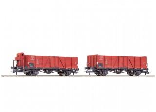 Roco HO 2 Piece Gondola Wagon Set CSD