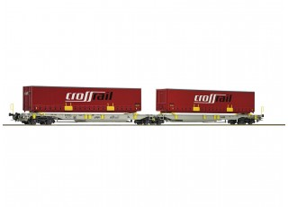 Roco HO Articulated Double Pocket Wagon AAE AG (Crossrail)
