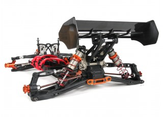 BSR Berserker 1/8 Electric Truggy Updated (Kit) - rear 3/4 no body