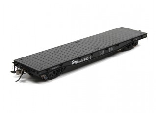 NX17K Flat Car (HO Scale - 4 Pack) Set 2 side view