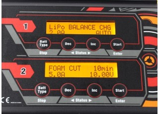 Turnigy Reaktor 2 x 300W 20A Balance Charger now with NiZN and LiHV - display 2