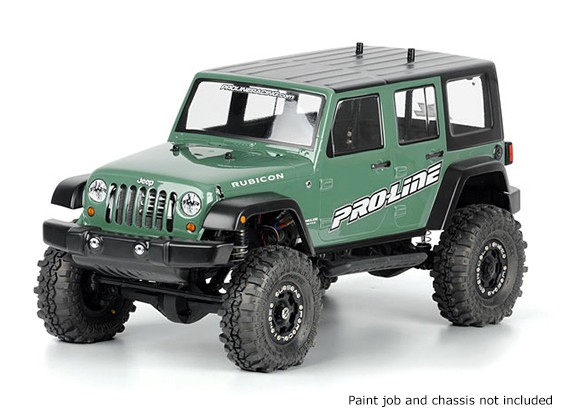 """Jeep Wrangler Unlimited Rubicon corps clair pour 12,3"" ""Empattement 1:10 de Crawlers Scale"""