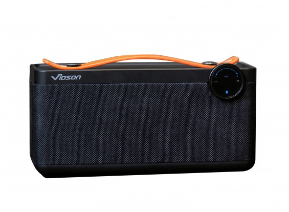 Vidson V6 Portable Intelligent Bluetooth Stereo Speaker With Calls/AUX/TF - BLACK