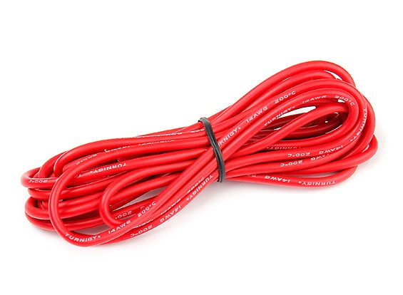 Turnigy High Quality 14AWG Silicone Wire 3m (Red)