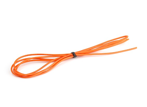 Turnigy High Quality 26AWG Silicone Wire 1m (Orange)