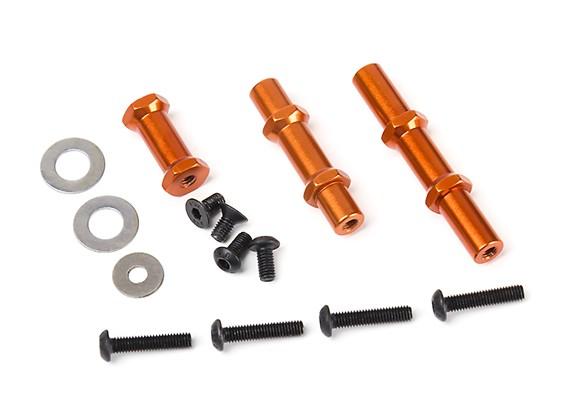 BSR Berserker Wheelie Bar Replacement Spacer and Axle Set (1 set)