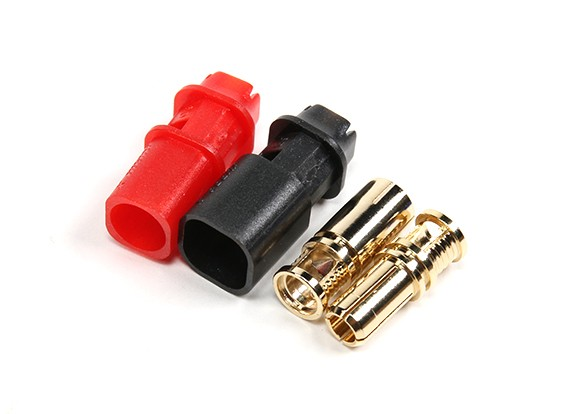 RCPROPLUS D6 Supra-X 6mm 5μm Gold Plated Connectors M/F (4 Black/4 Red)