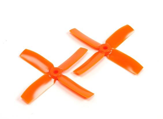 Gemfan 4040 Bullnose Polycarbonate 4 Blade Propeller Orange (CW/CCW) (1 Pair)