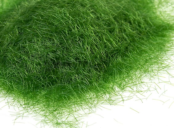 5mm Static Grass Flock - Medium Dark Green (250g)