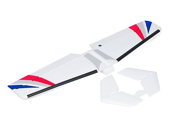 Avios BushMule - Horizontal Tail w/Stickers and Float Fins (Red/Blue)