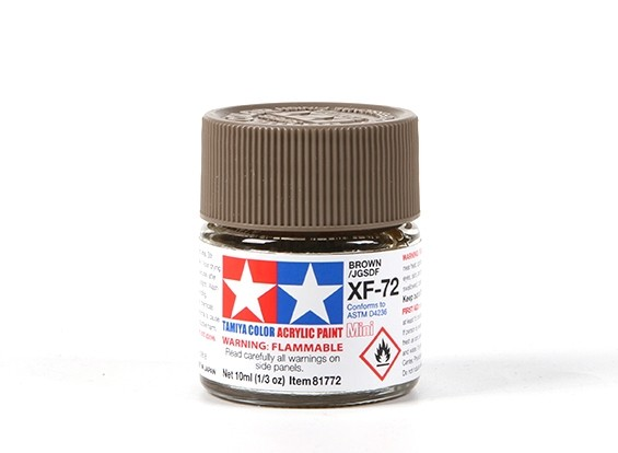 Tamiya XF-72 Flat Brown Acrylic Paint (10ml)