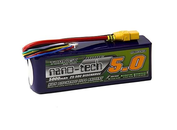 Turnigy nano-tech 5000mah 5S 25~50C Lipo Pack w/XT-90
