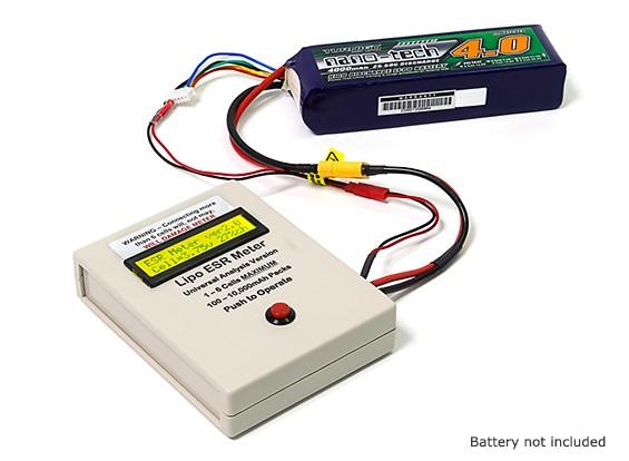 Wayne Giles Designed Universal ESR Meter for 100-10000mAh 1~6 Cell LiPos