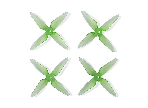 Team RaceKraft 3041 Q4CS 4 Blade Props - Clear Green