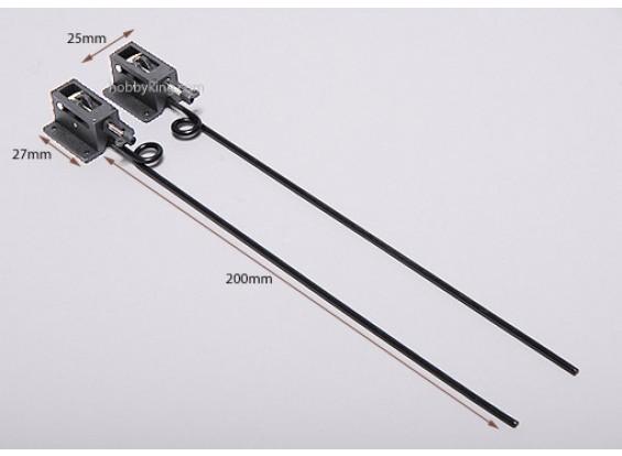 Plastique mécanique D2.5 rétracte * L130mm