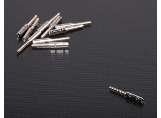 Extrémités filetées M2xL20mm (10pcs / set)