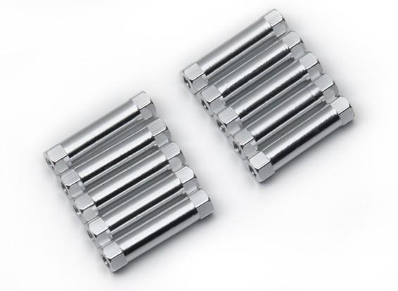 3x22mm alu. poids léger support rond (ruban)