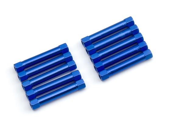 3x30mm alu. poids léger guéridon (bleu)