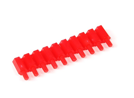 6mm M / F M3 Spacer x10 - Rouge