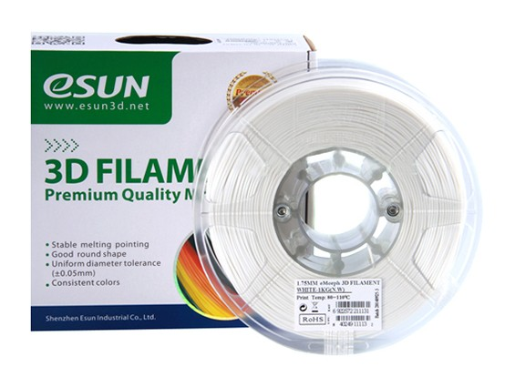 ESUN 3D Filament Imprimante 1.75mm naturelle eMate 0.5KG Spool