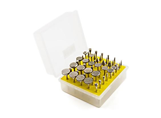 50PCS / set diamant tête de meulage meule Bur broyeur pour Outils Dremel Abrasive Rotary