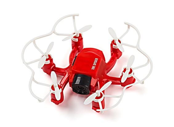 SPIDER MINI DRONE 4CH 6 AXIS GYRO de Hexacopter 3D FLY RC avec 2MP HD CAMERA (Rouge)
