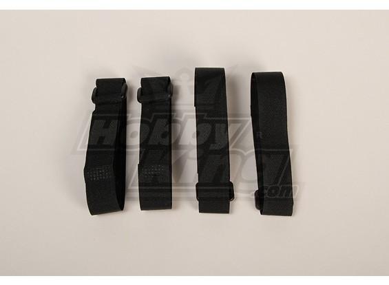Batterie Strap 400X20mm (Noir) (4pcs / sac)