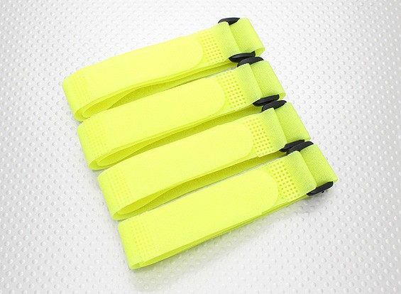 Batterie Strap 400X20mm (Jaune) (4pcs / sac)