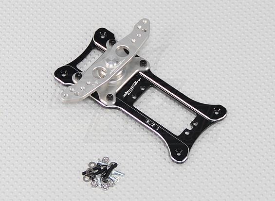 """Alliage CNC Rudder 1 Servo Tray 3.5 """"(M3) Noir"""