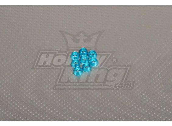CNC Cap Boulon Rondelle M4 (4.5mm) Blue Sky