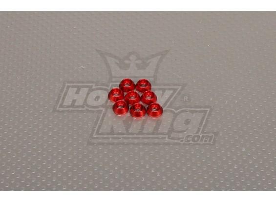 CNC Cap Boulon Rondelle M3 (3,5 mm) Rouge