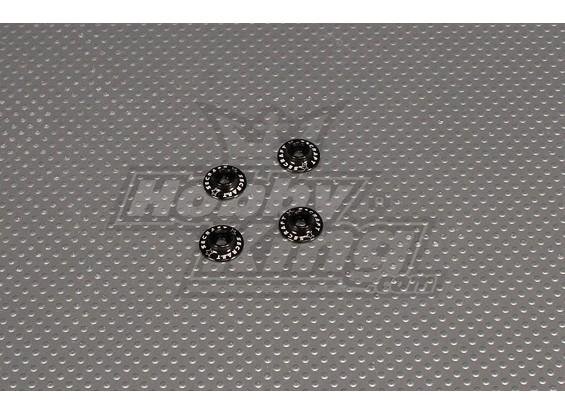 CNC Flanged Washer 3.0 (M3, # 4 40) Noir
