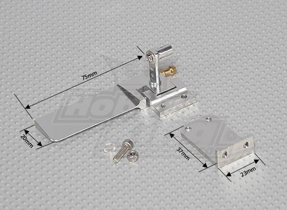 Rudder Set avec construit dans l'eau ramasser - 75mm