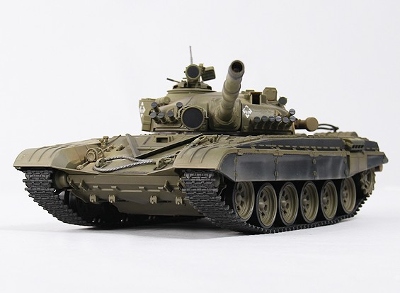 T-72M1 bataille RC Tank RTR w / Tx / Son / infrarouge